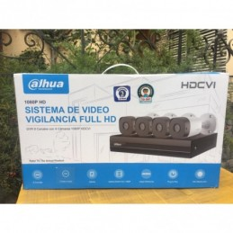 KIT DAHUA  8 CANALES 4 CAMARAS FULL HD DISCO DURO